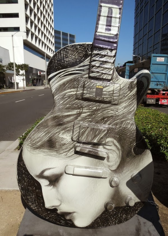 City of Angels GuitarTown sculpture Kat Von D
