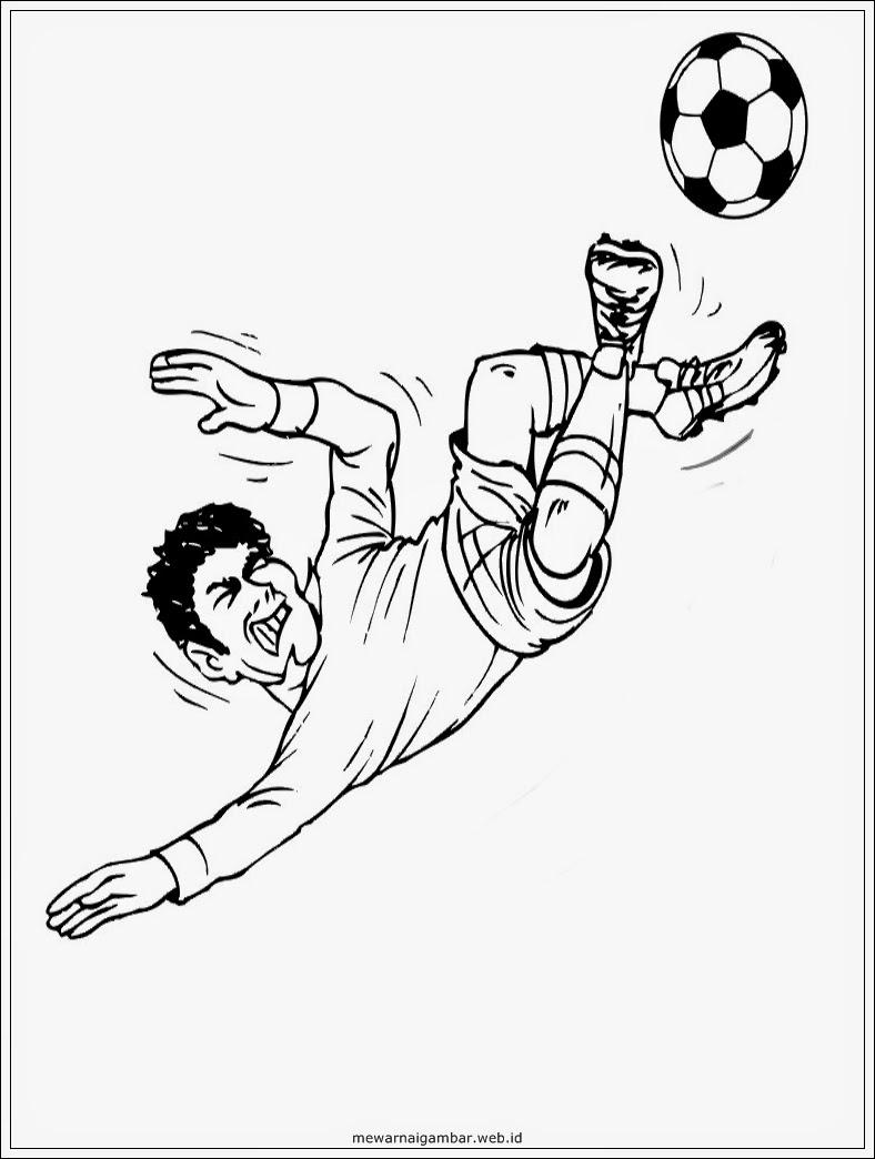 mewarnai gambar pemain sepakbola