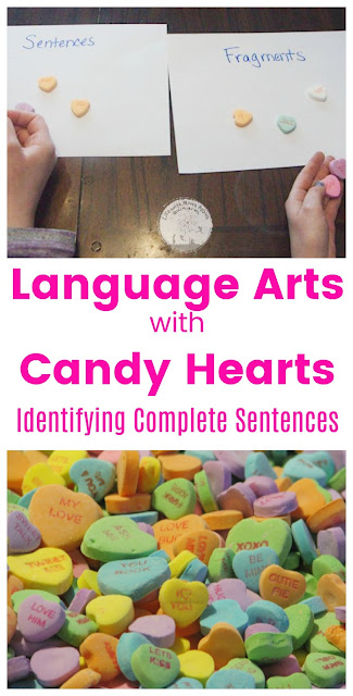 Candy Hearts Make Learning about Complete Sentences Fun