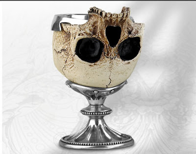 Human skull cup for sale