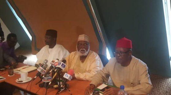 2019: Abdulsalami Peace Committee In Closed-Door Meeting With INEC Chairman