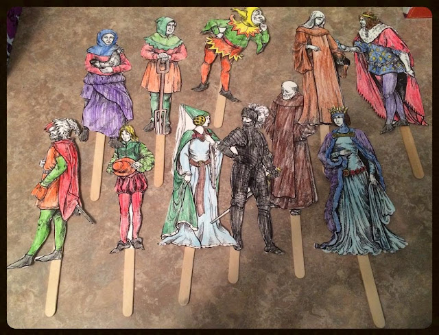Unexpected Homeschool: Review of Homeschool in the Woods - Project Passport: The Middle Ages (HSITW Medieval Clothing Puppets)