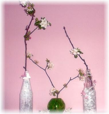 Deko Vase Apfelblüten