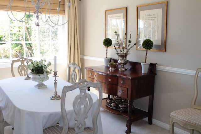 spring-tour-dining-room cherry blossoms french country style