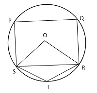 In the given figure, O is the center of the circle, ∠PQR = 100° and ∠STR = 105°. What is the value (in degree) of ∠OSP?