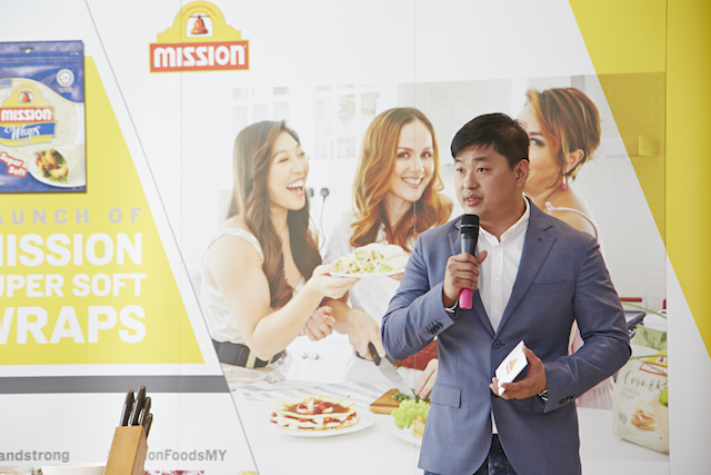 Mr Randall Tan, the Brand Manager for Mission Food South Asia