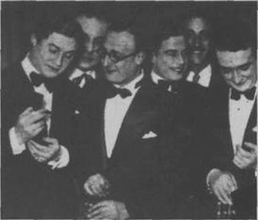 Edgardo Donato con Agustin Magaldi y Pedro Noda en 1933