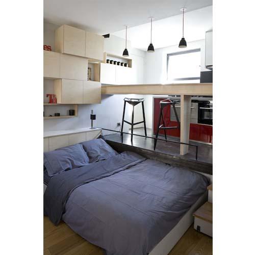 Creare una zona notte in un appartamento di 16 mq a Parigi