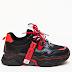 Pantofi Sport dama negri cu talpa groasa model frumos