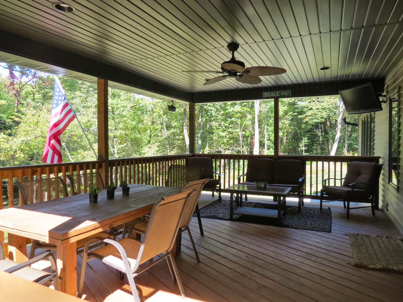 Let's Just Build a House!: Outdoor Space: our covered back ... on Covered Back Deck Designs id=64744