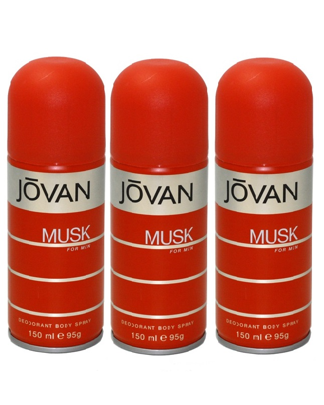 Pack Of 3 - Jovan Musk Body Spray For Men 150 ml