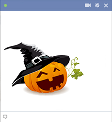 Halloween Pumpkin sticker for Facebook