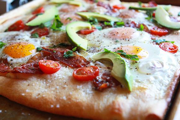 Avocado Breakfast Pizza