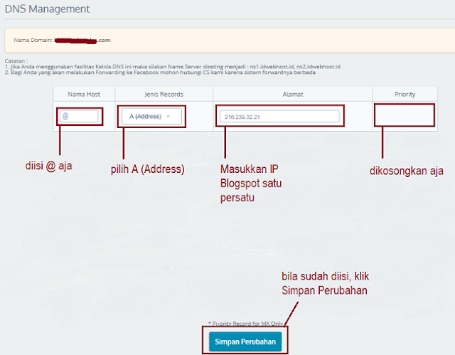Tampilan DNS Management - Blog Mas Hendra
