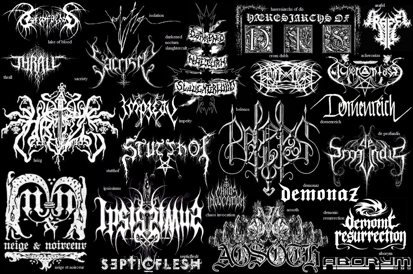 May the devil take us...: Black Metal Band Logos [Part II]