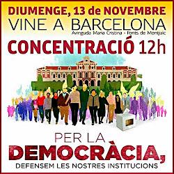 """Cartel de la manifestación de ayer, organizada por """"Òmnium"""""""