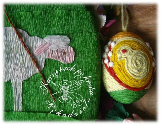 Wielkanocna pisanka z bibułowych sznurków – krok po kroku