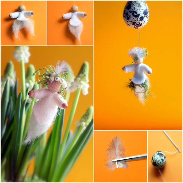 Daily Colours : Flower and Nest Fairies - Free PDF-pattern