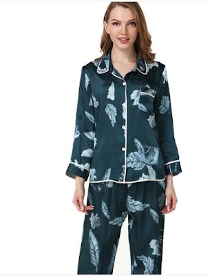 Pijamas de seda para mujer