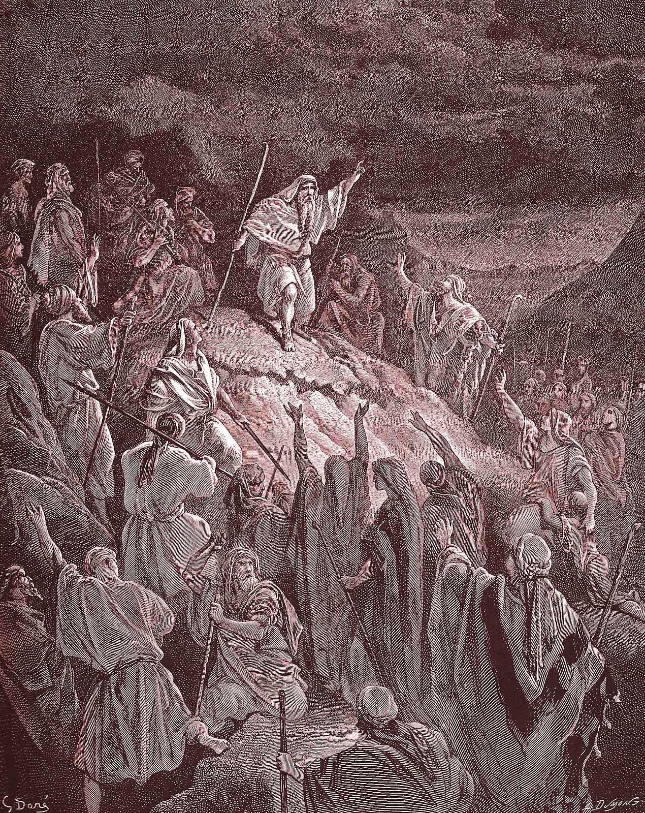 Matatias exorta os judeus inconformados a resistir contra o invasor pagão. Gustave Doré (1832 — 1883)