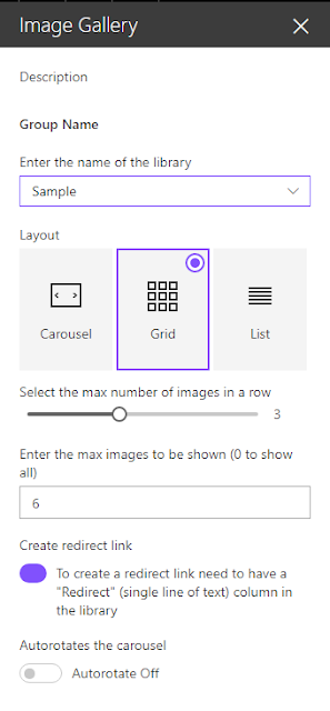 SharePoint Online Image Gallery Client side webpart using SharePoint Framework and React