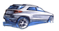 2011 Mercedes-Benz M-Class W 166 Design Sketches preliminary exterior