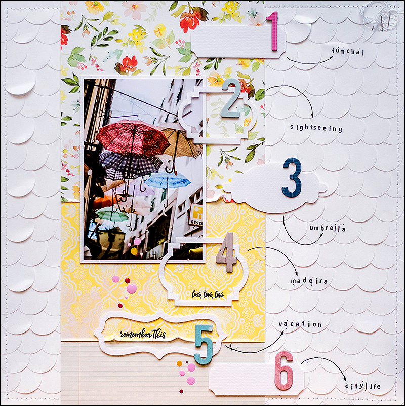 Stephanie Berger - Scrapbooking - Layout - Madeira - Umbrella