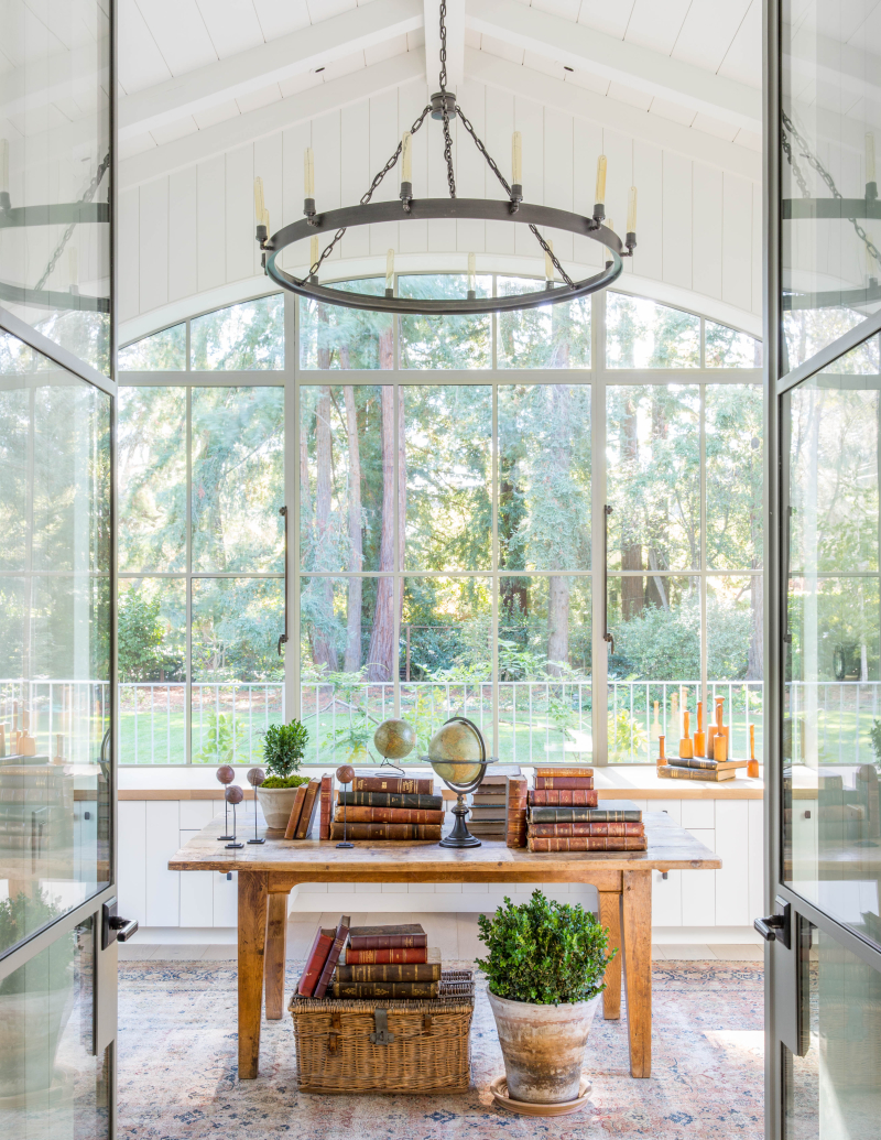 Atrium room in modern farmhouse by Giannetti Home - found on Hello Lovely Studio