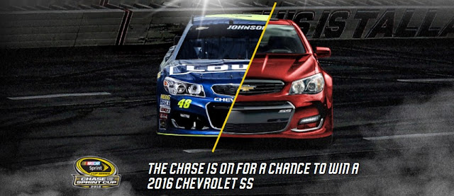 Chevrolet wants you to enter daily to win their track-inspired Chevy SS and a trip to join all 16 Chase for the NASCAR Sprint Cup drivers at NASCAR Sprint Cup Series Champion's Week in Vegas!