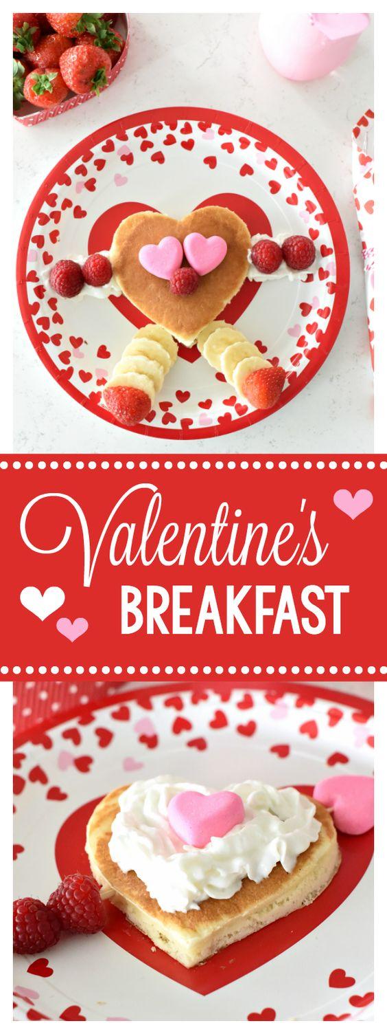 FUN VALENTINE'S DAY BREAKFAST IDEA #VALENTINE'SDAY #BREAKFAST