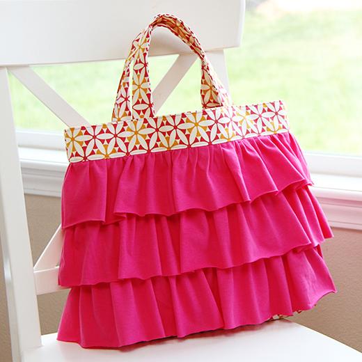 Elli's Ruffled Church Bag Free Pattern