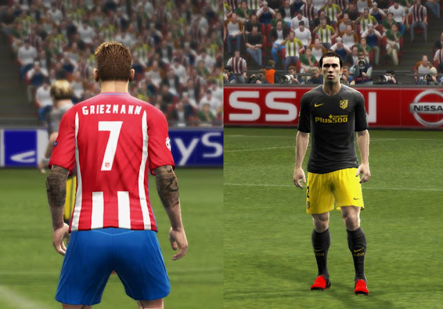 PES 2013 Atletico Madrid 2016/17 GDB Update v2 by Strex Kitmaker