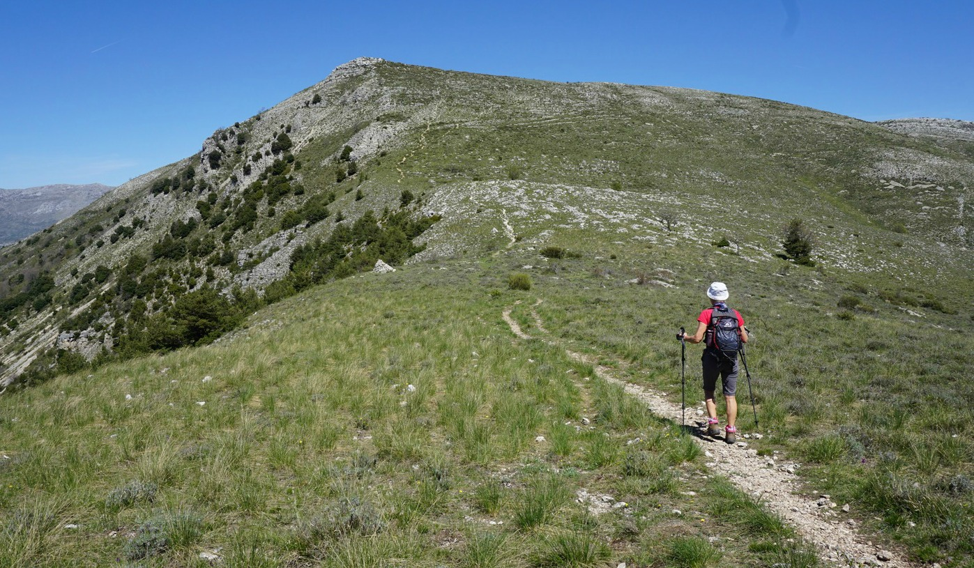 The saddle between Pic de Courmettes and Puy de Tourrettes