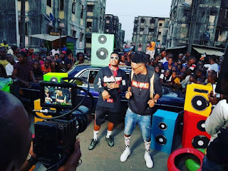 "Efe & Olamide Hit The Streets For ""Warri"" Video Shoot (BTS Photos)"