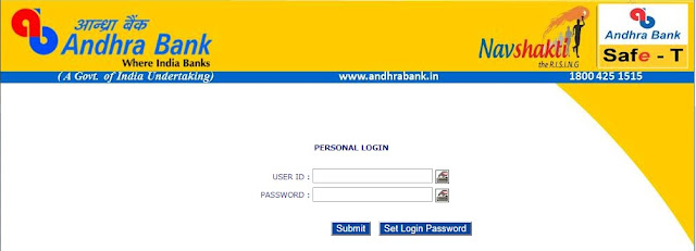 Andhra Bank Net Banking New Login Online Registration
