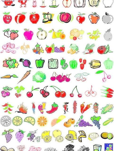 Trái cây và rau minh hoạ vector