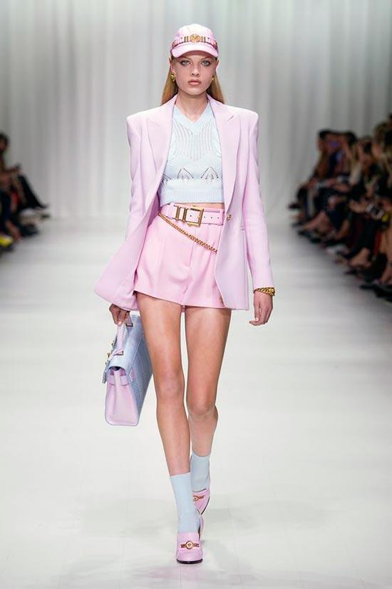 Wearing Versace