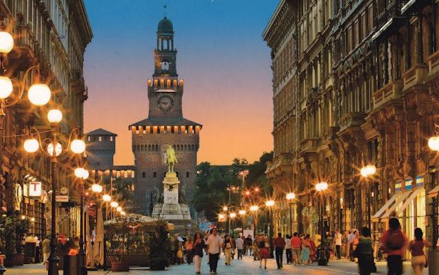 Cidade turística Milão na Itália