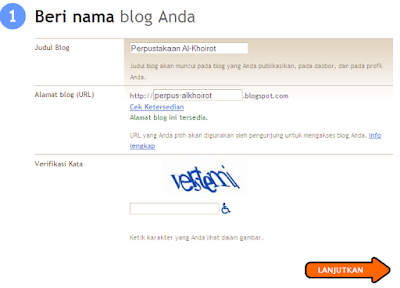 Membuat Blog di Blogger Blogspot