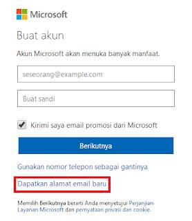 Pendaftaran Email Outlook