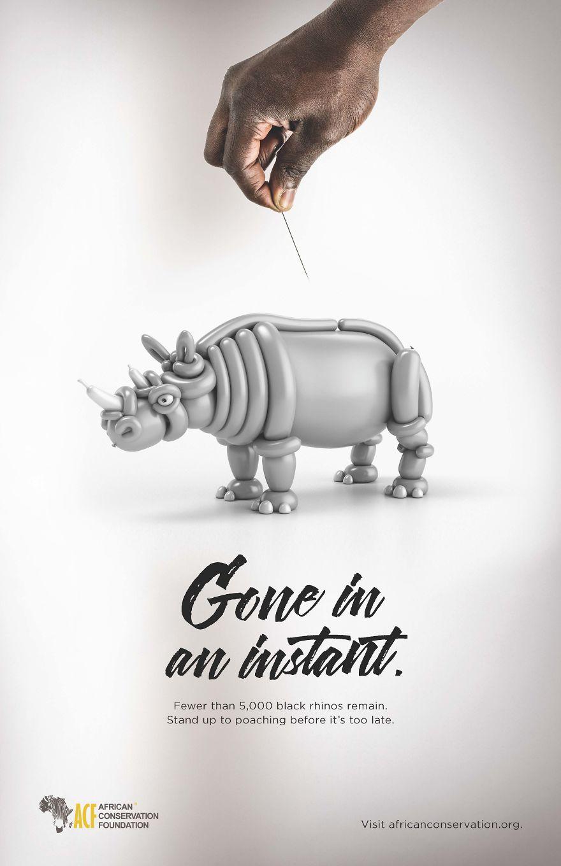 Campaña contra la caza furtiva, que muestra la vulnerabilidad de los animales