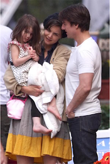 The Cruise Family: Tom,Katie and daughter Suri