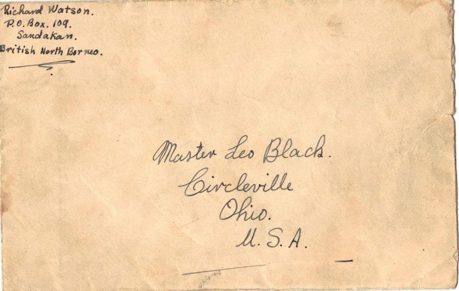 My North Borneo Stamps An Interesting Letter In A Cover