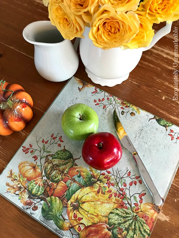 Glass Cutting Board For Fall