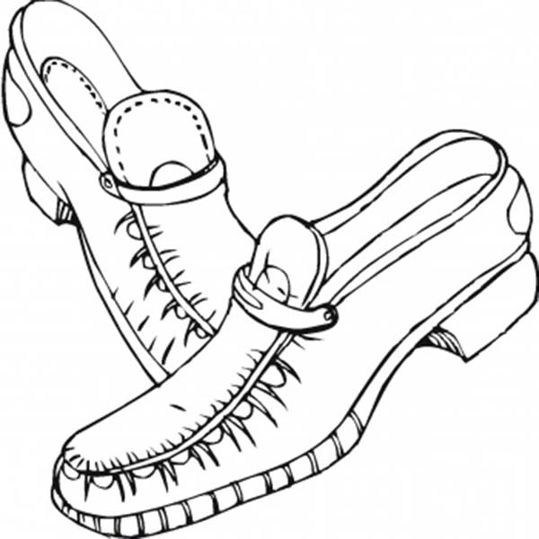 dibujos de zapatos para colorear