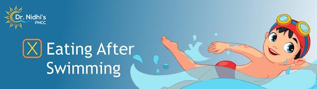 A boy swimming