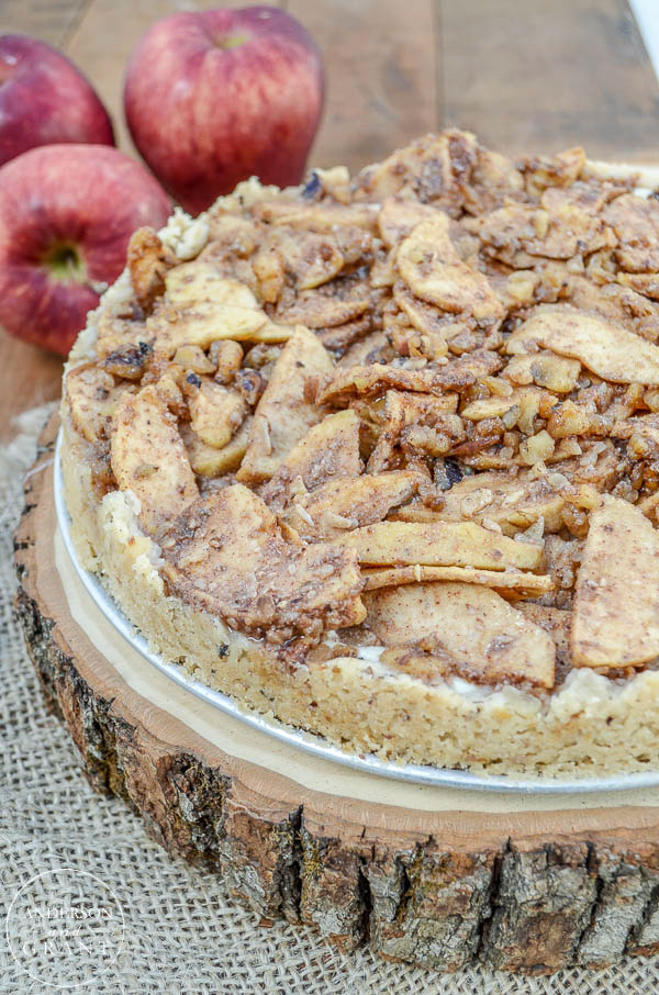 Apple Danish Cheesecake on a Walnut Almond Crust |  www.andersonandgrant.com