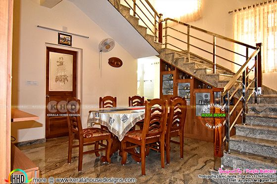 Dining room finished in Kerala