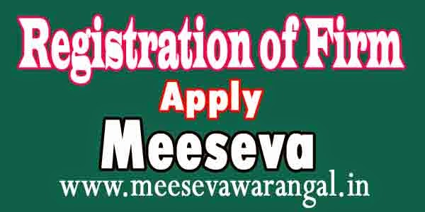 Registration of Firm Apply in Meeseva