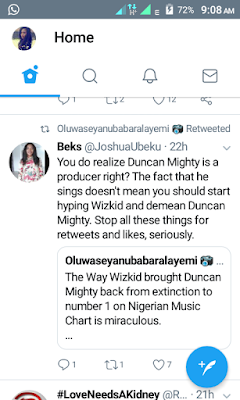 Fans Arguments This Morning Over Wizkid & Duncan Mighty